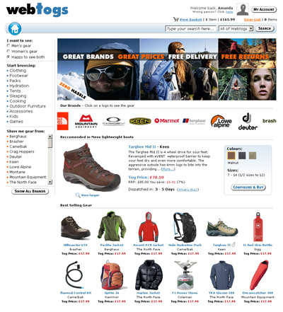 Webtogs Online Store Front