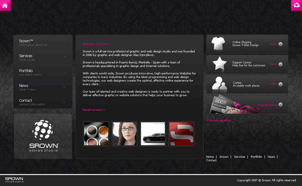 Srown.com Screenshot