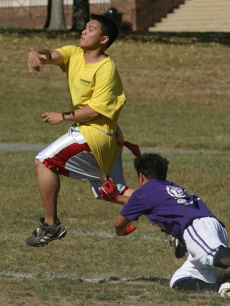 Flag Football Shirt Grab