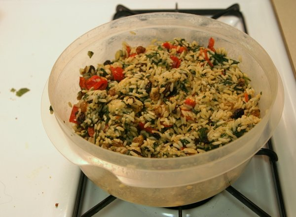 Mediterranean Spinach and Rice Wide