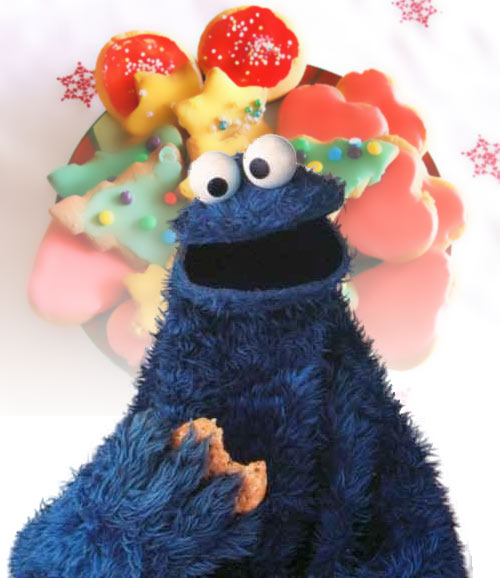 Cookie Monster Holiday Cookies