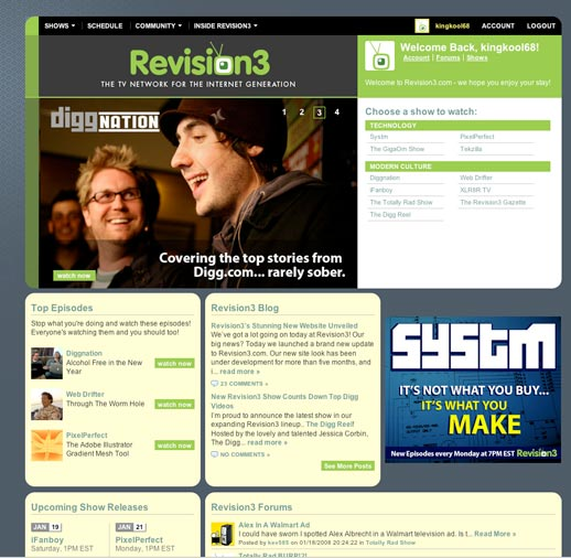 New Revision3.com Design