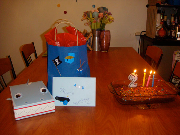 The loot and brownies from my 23rd birthday celebration.