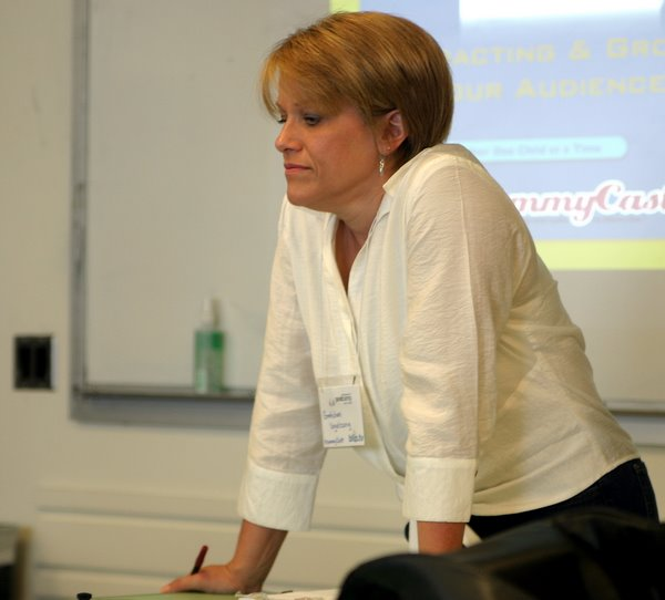 Gretchen Vogelzang gave on of the best talks of the conference about how the MommyCast got where it is today.