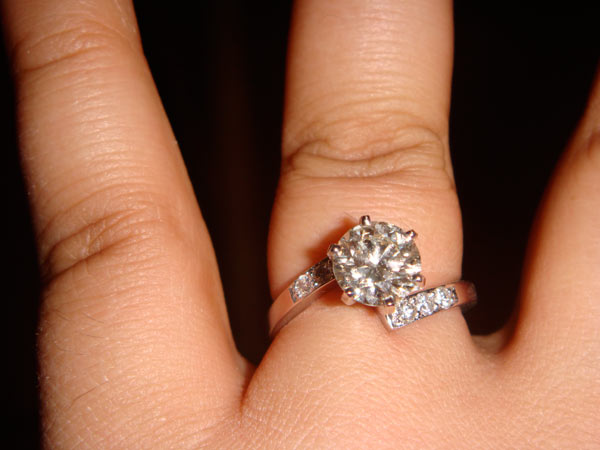 The engagement ring I got Kristina