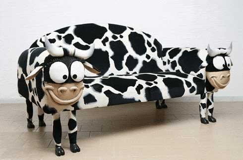Goofy Cow Sofa.