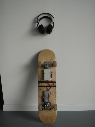 The Musical Skateboard Set-up