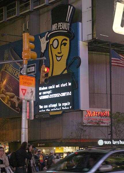 Mr Peanut In Times Square FAIL