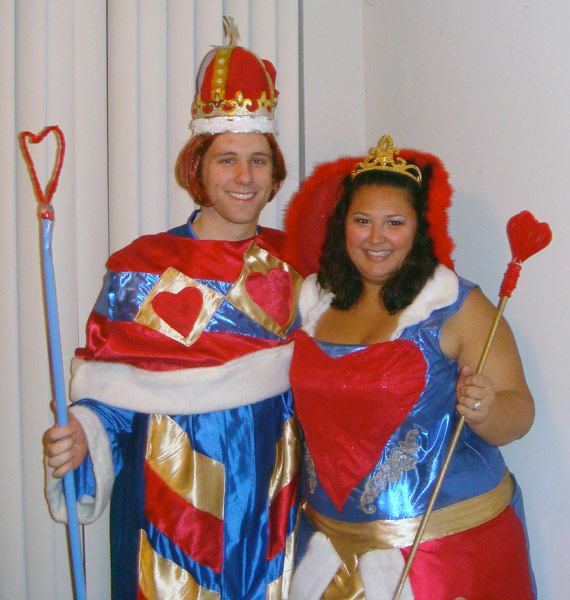 Russell and Kristina as the King and Queen of Hearts