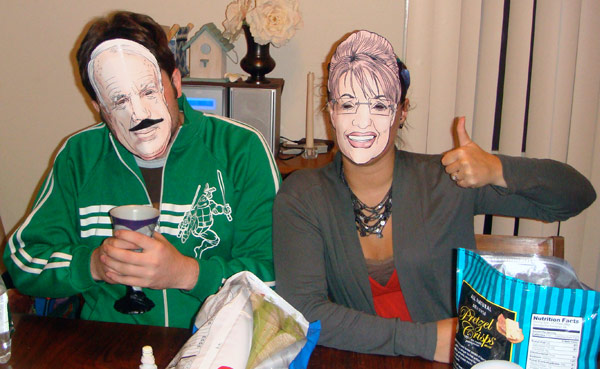 McCain and Palin Paper Masks