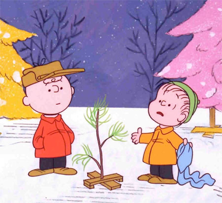 A frame from the Charlie Brown Christmas Special