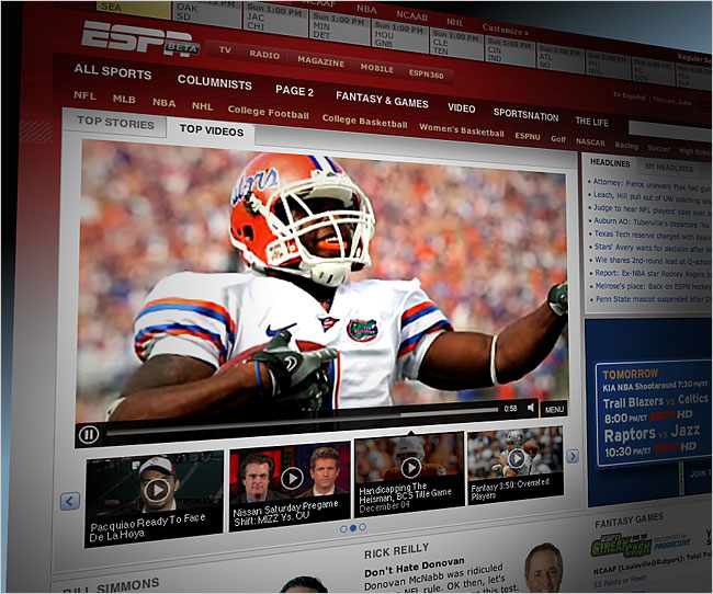ESPN is simplifying it's homepage in an effort to grow it's brand.