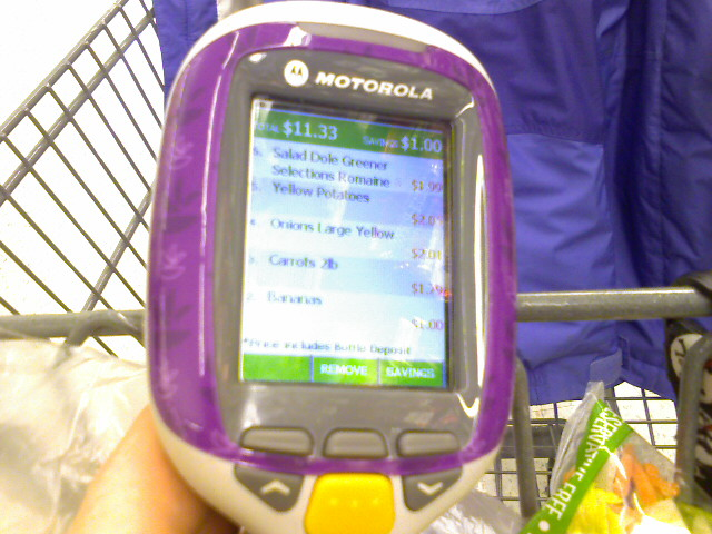 The Scan It keeps track of the total as you shop.