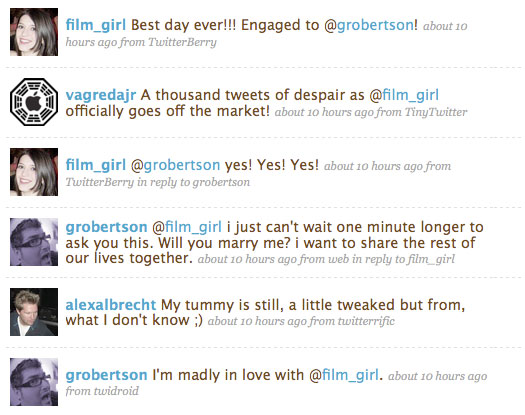 grobertson proposes to film_girl via Twitter