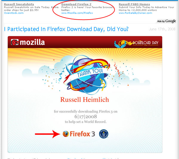 Download Mozilla Firefox 2 even though Firefox 3 was released.