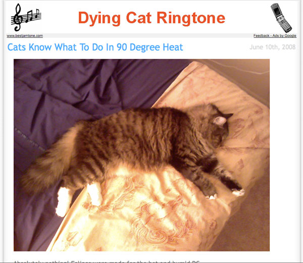 Who would want a dying cat ringtone?