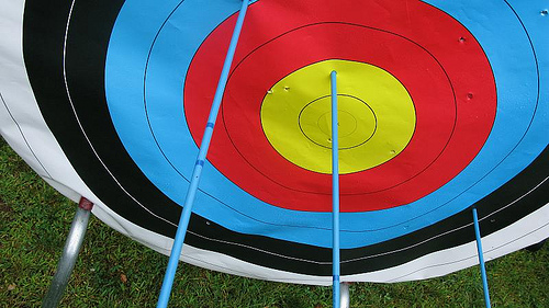Bullseye Target for Archery Practice