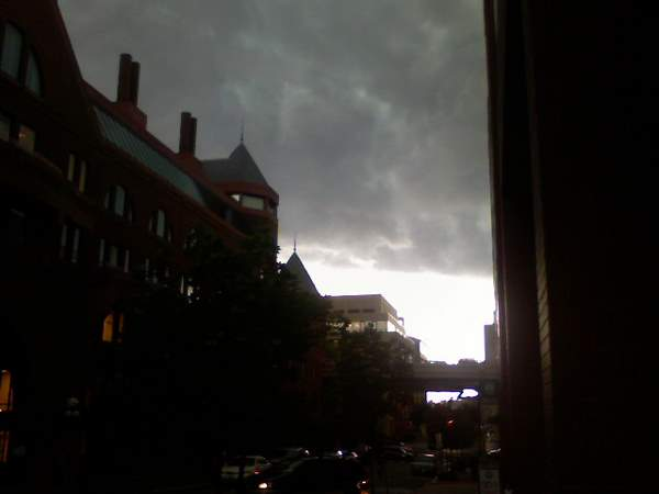 Scary Clouds Over Georgetown