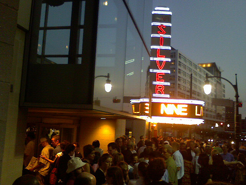 Line outside of AFI theater for SilverDocs Documentary Film Festival
