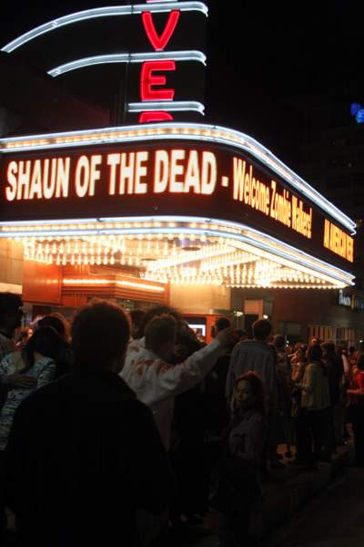 Shaun of the Dead playing at the AFI Theater after the 2009 Silver Spring Zombie Walk