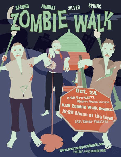 Silver Spring Zombie Walk Poster