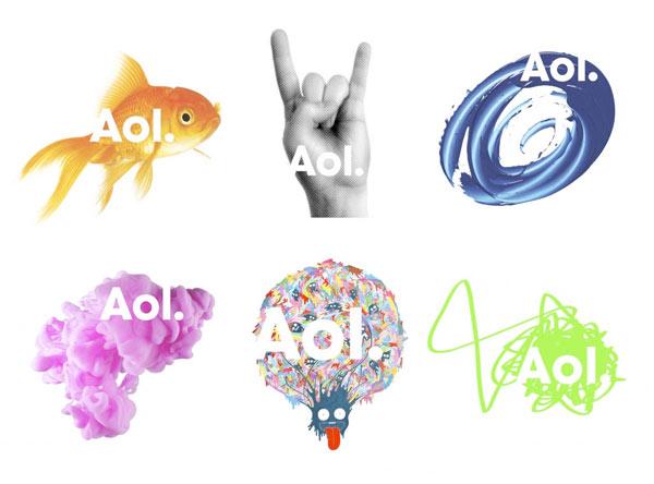 Aol rebranding logos