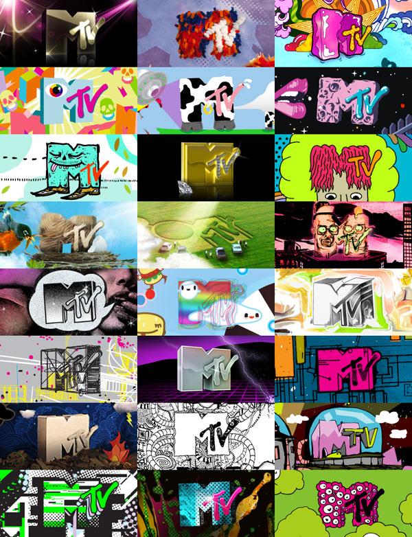 Various MTV logos