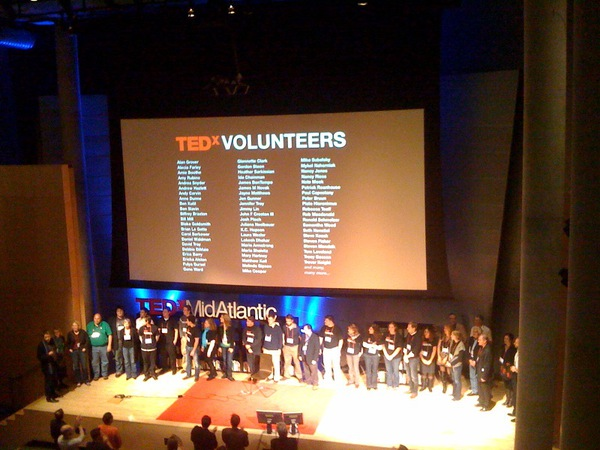 TEDxMidAtlantic Volunteers Standing Ovation