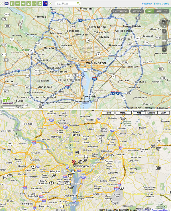 MapQuest Gets A Fresh Coat Of Paint » Design, Reviews ... on bing maps, yahoo! maps, google maps,